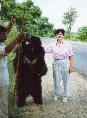 Mary was a driving force behind the campaign to end the dancing bear trade in India